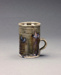 Coffee Mug with DCR stamp; Barry Brickell 1935-2016; c. 2005-2015; DCR-2016-029