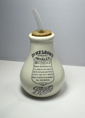 Improved Ceramic Inhaler; Boots Pure Drug Company, Nottingham; H2014.005PS