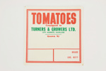 Produce labels - tomatoes; Turners & Growers Ltd.; 02294