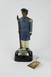 Te Rauparaha musical figurine Bourbon Whisky bottle; James B. Beam Distilling Co.; 00966.1-.3