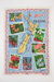Souvenir New Zealand flowers tea towel; Maylin; 00699