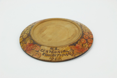 Centennial Exhibition poker work teapot stand; Disabled Soldiers Products; 1940; 01731