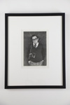 'Man with transistor radio' photographic print; Glenn Busch; 1973; 05104
