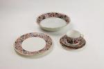 Maori art patterned dinner set; Royal Doulton; 01203.1-14