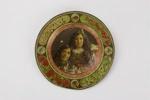 Maori Maggie & Bella plate; Arthur James Iles; George Hadfield & Co.; circa 1901 - 1905; 00825