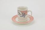 Venice cup and saucer set; Crown Lynn Potteries Ltd; circa 1980's; 02271.1-.2