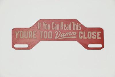 Car sign; 02110