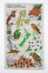 Souvenir New Zealand tea towel; circa 1984; 00697
