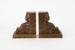 Pair of Wharetana Ware bookends; Crown Lynn Potteries Ltd; 1948 - 1952; 02133.1-.2