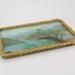 Tray with handpainted landscape image; Joy Friis; 02307