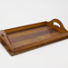Wooden paneled drinks tray; 02309