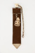 Leather strap with tiki; 02132
