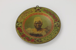 Maori Chief Mategna plate; Arthur James Iles; George Hadfield & Co.; circa 1901 - 1905; 01281