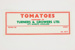 Produce labels - tomatoes; Turners & Growers Ltd.; 02292