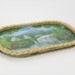 Tray with handpainted landscape image; Joy Friis; 02308