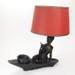 Lamp base with shade; 02302.1-.2