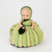 Knitted tea cosy with doll; 02313