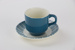 Cup and saucer; Crown Lynn Potteries Ltd; circa 1970s - 1980s; 00169.1-.2