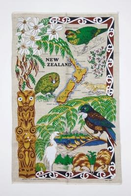 Souvenir New Zealand tea towel; 00696