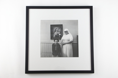 Catholic nurse with her patient photographic print; Glenn Busch; 05093