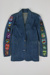 Denim jacket with New Zealand badges; Peppertree; 00008