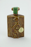 Maori patterned liqueur bottle; Lincoln Wines; Parker Pottery; circa 1980s; 01609