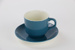 Colour glaze cup and saucer; Crown Lynn Potteries Ltd; circa 1970s - 1980s; 00168.1-.2