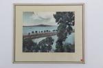 Rangitoto from Judges Bay framed photographic print; Whites Aviation Ltd; 05011