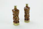 Pair of Tangata Lincoln Wines port bottles; Lincoln Wines; Parker Pottery; circa 1986 - 1989; 01608.1-.2