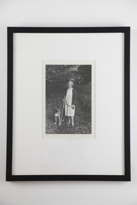 Woman with her dog' photographic print; Glenn Busch; 1973; 05099