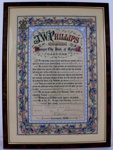 J.W. Phillips Illuminated Address