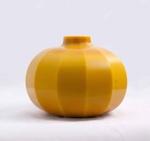 Peking Globe Vase (Yellow); Alexander Lamont Studios; JR00103.6