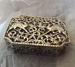 Rectangular silver box with scalloped corners; Unknown; JR00143.6