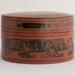 Burmese Round Orange Laquerware Box - Betel Nut box (Kun it); JR00189