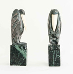 Art Deco Chryselephantine Bookends ; Marcel-André Bouraine; JR00135