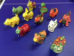 12 small ceramic animals; Jang Meekjung; JR00302
