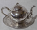 Chinese Export Silver Tea Pot and Stand; JR00269
