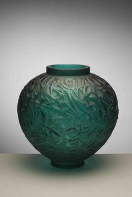 Gui (mistletoe) (emerald green); Rene Lalique; JR00010.6