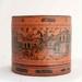 Burmese Round Orange Laquerware Box - Betel Nut box (Kun it); JR00191