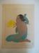Jeune Fille De Saipan Et Fleurs D'Hibiscus. Marianes; Paul Jacoulet; 1934; JR00159.9
