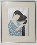 Woman combing her hair; Hashiguchi Goyo; 1920; JR00171