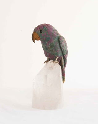 Stone Bird on Crystal; Unknown; JR00136.2