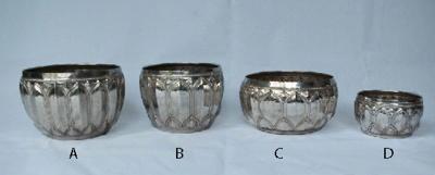 Four Solid Silver Bowls; JR00141