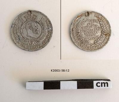 Medal, Commemorative; 1907; K2003/58/I.2
