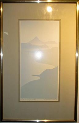 "Painting, ""Morning Mokau""; 1983; 2019.007"