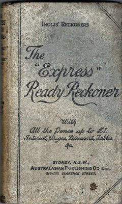 "Book, The ""Express"" Ready Reckoner; Gall & Inglis; 1983/1"