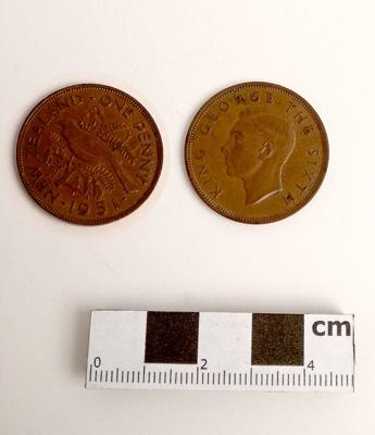 Coin, penny; 1951; RA2018.103