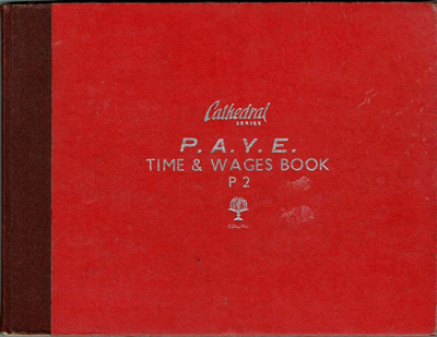 Book, P.A.Y.E. Time and Wages Book; 1997/4/1