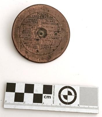 Disc, Copper Postage; K2005/227