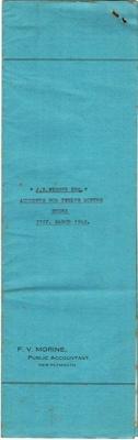 Archives, Financial Accounts of J.N.Webber Esq. Paparahia Station 1949; F.V.Morine; 1949; 1997/4/2c